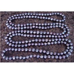 "Genuine 40"" Grey Peacock Cultured Pearl Necklace"