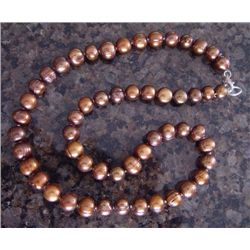 "Genuine 20"" Chocolate Cultured Pearl Necklace"