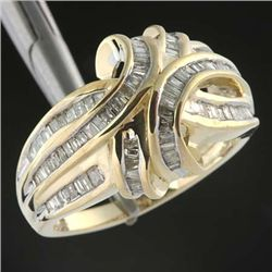 1.0 Ctw. Diamond Channel Set Ring - 10ky Gold