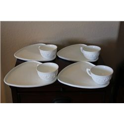 Vintage Milk Glass Tea Service - Indianan Glass