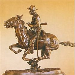 """Trooper Of The Plains"" Bronze Sculpture - Remington"