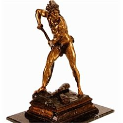 """Last Of The Mohicans"" Bronze Sculpture - Plaza"