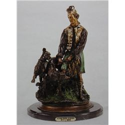 """Scottish Hunter With Hounds"" Bronze Sculpture - Mene"