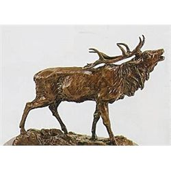"""Elk"" Bronze Sculpture - Mene"