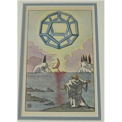 Antique Salvador Dali  1945 Lithograph