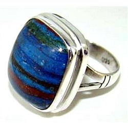 Silver and Rainbow Caliscilica Ring