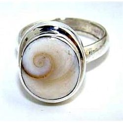Silver and Shiva Pearl Ring