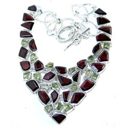 Peridot & Garnet Necklace