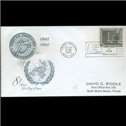 1960 UN First Day Postal Cover (STM-2307)