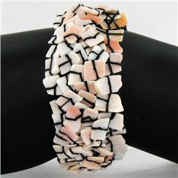Stretch Shell/MOP Bracelet (JEW-4338)