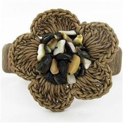 Crocheted Shell Ring (JEW-4335)