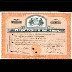 1950s Penn. Railroad Stock Certificate Scarce (CUR-06423)