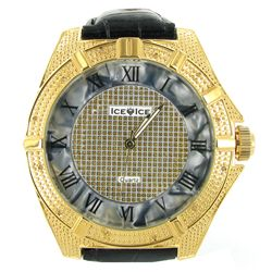New Ice Time Mens Diamond Bezel Watch (WAT-346)
