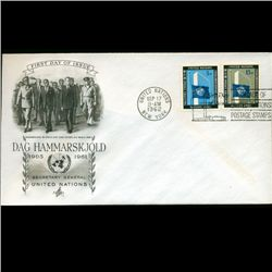 1962 UN First Day 4 Block Postal Cover (STM-2397)