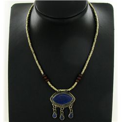 135ct Handcrafted Lapis Nickel Necklace (JEW-4376A)