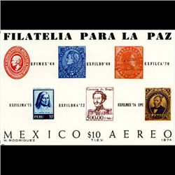1974 Mexico 10p Souvenier Sheet MINT NH (STM-1268)