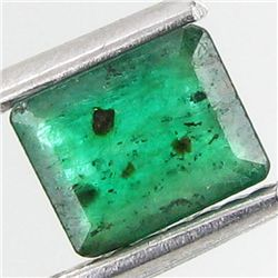 .6ct Octagon Emerald Deep Green Colombia (GEM-13558)