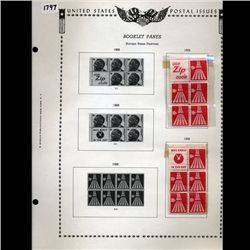 1968 US Stamp Album Page 10pcs (STM-1797)