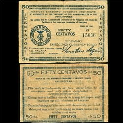 1943 WW2 Guerrilla Rebel Philippines 50c Note Mindanao (CUR-07187)