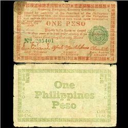 1943 WW2 Guerrilla Rebel Philippines 1P Note Negros (CUR-07195)