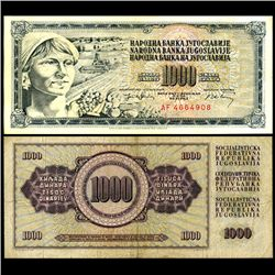1974 Yugoslavia 1000 Dinara Circulated Note (CUR-06678)