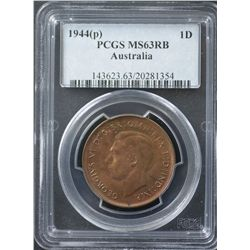 1944P Penny PCGS MS63 RB