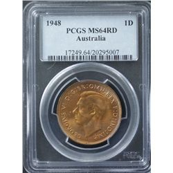 1948 Penny PCGS MS64 Red
