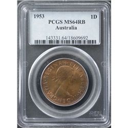 1953 Penny PCGS MS64 RB