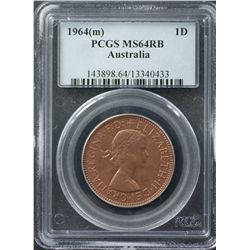1964 Penny PCGS MS64 RB