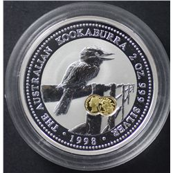 Perth Mint 2 oz Kookaburra 1998