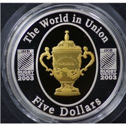 Rugby World Cup $5 Proof