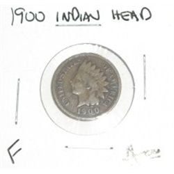 1900 INDIAN HEAD PENNY RED BOOK VALUE IS $5.00 *FINE GRADE*!!