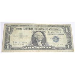 1957 SERIES A $1 SILVER CERTIFICATE SERIAL # I64107584A *PLEASE LOOK AT PICTURE TO DETERMINE GRADE!!