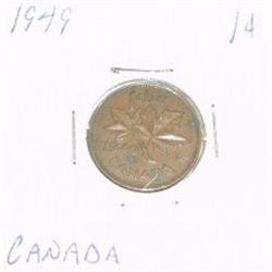 1949 CANADIAN 1 CENT PENNY *PLEASE LOOK AT PICTIRE TO DETERMINE GRADE*!!