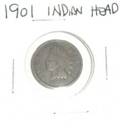 1901 INDIAN HEAD PENNY *NICE COIN - PLEASE LOOK AT PICTURE TO DETERMINE GRADE*!!