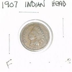 1907 INDIAN HEAD PENNY RED BOOK VALUE IS $5.00 *NICE COIN - FINE GRADE*!!