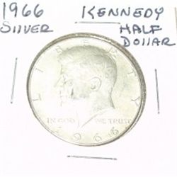 1966 SILVER KENNEDY HALF DOLLAR *NICE SILVER COIN - PLEASE LOOK AT PICTURE TO DETERMINE GRADE*!!