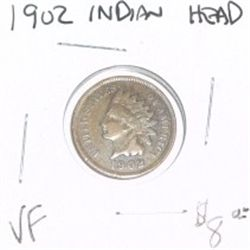1902 INDIAN HEAD PENNY RED BOOK VALUE IS $8.00 *VERY FINE GRADE - NICE COIN*!!