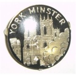 VINTAGE *YORK MINSTER PIN* ENGLAND CASTLE WITH BUSHES DESIGN!!!