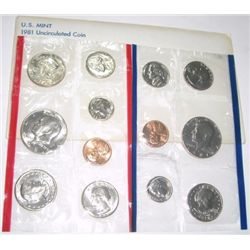 1981 P,D & S MINT SET RED BOOK VALUE IS $16.00 *NEVER OPENED COMES IN ORIGINAL MINT PACKAGE*!!