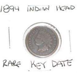 1894 INDIAN HEAD PENNY RARE KEY DATE *PLEASE LOOK AT PICTURE TO DETERMINE GRADE*!!