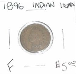 1896 INDIAN HEAD PENNY RED BOOK VALUE IS $5.00 *FINE GRADE*!!