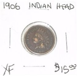 1906 INDIAN HEAD PENNY RED BOOK VALUE IS $15.00 *RARE EXTRA FINE HIGH GRADE*!!