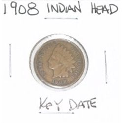 1908 INDIAN HEAD PENNY  *RARE KEY DATE PLEASE LOOK AT PICTURE TO DETERMINE GRADE*!!