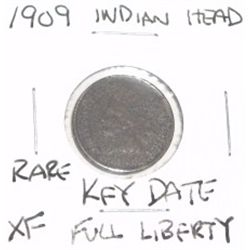 1909 INDIAN HEAD PENNY  *RARE KEY DATE EXTRA FINE GRADE*!!
