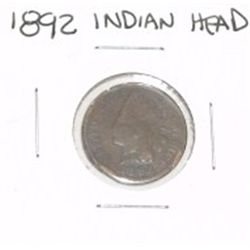 1892 INDIAN HEAD PENNY *PLEASE LOOK AT PICTURE TO DETERMINE GRADE*!!