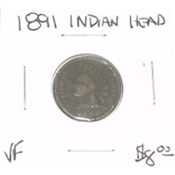 1891 INDIAN HEAD PENNY RED BOOK VALUE IS $8.00 *VERY FINE GRADE*!!