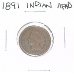 1891 INDIAN HEAD PENNY *PLEASE LOOK AT PICTURE TO DETERMINE GRADE*!!