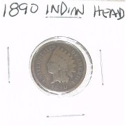 1890 INDIAN HEAD PENNY *PLEASE LOOK AT PICTURE TO DETERMINE GRADE*!!