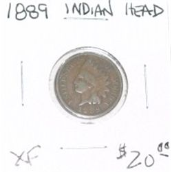 1889 INDIAN HEAD PENNY RED BOOK VALUE IS $20.00 *RARE EXTRA FINE HIGH GRADE*!!